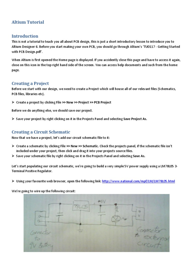 Altium Tutorial Printed Circuit Board Electrical Connector Simple Power Saver Schematic Diagram