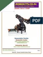 Robotic Arm 5 DOF tutorial