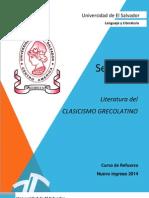 Comunicación Literaria - Literatura del clasicismo grecolatino