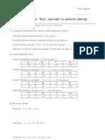 Test - Operatii Cu Numere Intregi