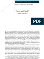 Poetry and Truth Koethe Midwest Studies in Philosophy