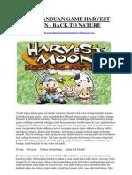 Buku Panduan Game Harvest Moon Back to Nature