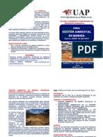 Foro Gestion Ambiental en Mineria