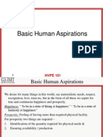 Human Aspirations