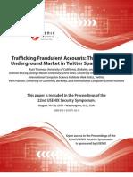Trafficking Fraudulent Accounts