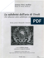Tommaso Neri, La Salubrità dell'aria di Tivoli, 1622, curavit Roberto Borgia 2009.