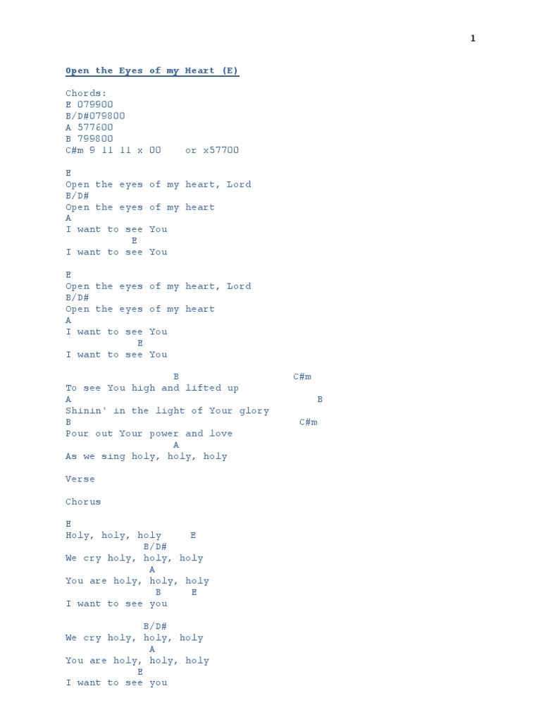 Chords Song Structure Jesus