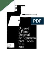 Texto 167 o Que e o Plano Decenal de Educacao Para Todos Imprimir