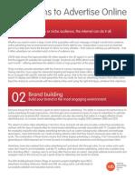 Ten Reasons to Advertise Online