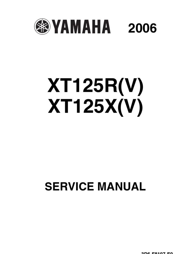 yamaha xt 125 service manual | transmission (mechanics) | clutch  scribd