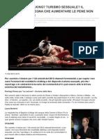 FEMMINICIDI STALKING E TURISMO SESSUALE - Aumentare le pene non diminuisce i reati