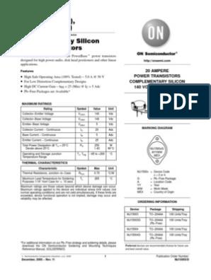 MULTICOMP-MJ15023-BIPOLAR TRANSISTOR/£/¬-200V/¬PNP/£