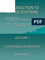 INTRODUCTION TO ADMIN MANAGEMENT-  INTRODUCTION TO OFFICE SYSTEMS