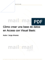 Como Crear Una Base de Datos en Access Con Visual Basic
