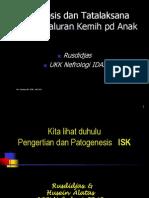 Materi Diagnosis Dan Tatalaksana Infeksi Saluran Kemih by. Prof.dr. Rusdijas,SpA