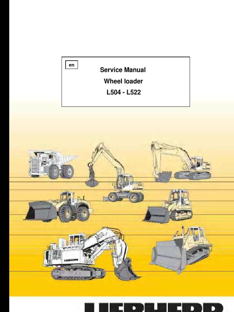 Wheel Loader Liebherr L 504-L 522 - Service Manual | Steering ...