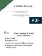 Partial Denture Designing