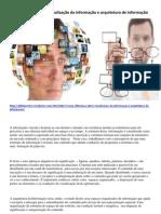 Diferença  entre visualização  e arquitetura de informação