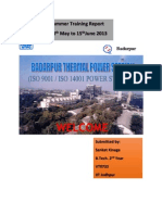 NTPC SUMMER TRAINING REPORT 2013