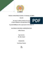 Impact of FDI