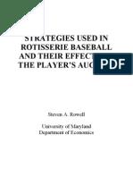 Project Fantasy Baseball