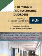 Role of Yoga in Geriatric Psychiatric Disorders