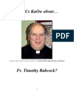 Do RCs KnOw of Convicted [Royal Oak, Mich.] Molester Fr. Timothy Babcock?