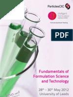 Formulation Course Flyer