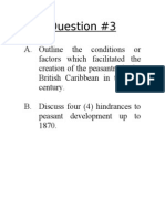 Question Page - CARIBBEAN HISTORY