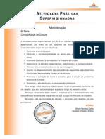 Cead 20131 Administracao Pr - Administracao - Contabilidade de Custos - Nr (a2ead045) Atividades Praticas Supervisionadas Atps 2013 1 Adm 5 Contabilidade Custos