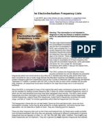 Introducere in electroherbalism Lista de frecvente