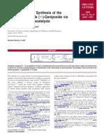 Asymmetric Total Synthesis of the Iridoid B-Glucoside (+)-Geniposide via Phosphine Organocatalysis