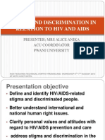 De-stigmatization through sensitization