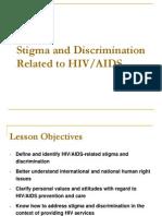 Stimatizing HIV infections