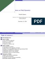 Fluid Dynamics Lecture Notes