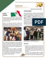 BOLETIN 94 Informe misionero Mexico, mayo 2009