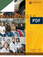 Waubonsee Catalog 2009-2010