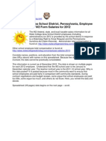 State College Area School District, Pennsylvania, Employee W2 Form Salaries 2012