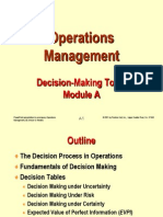 Decision in Operations Management