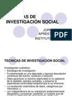 TECNICAS DE INVESTIGACIÓN SOCIAL
