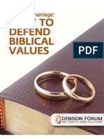 Same Sex Marriage How to Defend Biblical Values