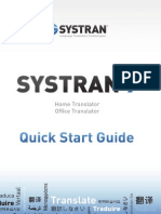 SYSTRAN 7 Quick Start Guide Home Office