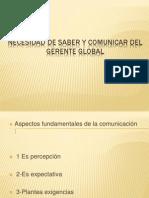 Necesidad de Saber y Comunicar Del Gerente Global