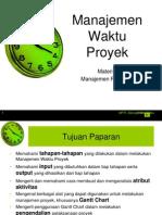 Materi 5 Manajemen Proyek Ti Manajemen Waktu Proyek