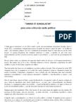 Omnes Et Singulatim - Foucault