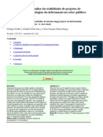 Viabilidade de projetos de terceirização de tecnologias da informação