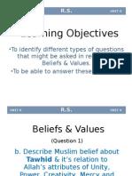 1.Belief & Values