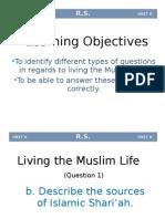 4.Living the Muslim Life