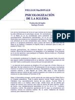 La Psicologización de la Iglesia_ MacDonald