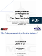 Entrepreneur Development for the Creative Industry